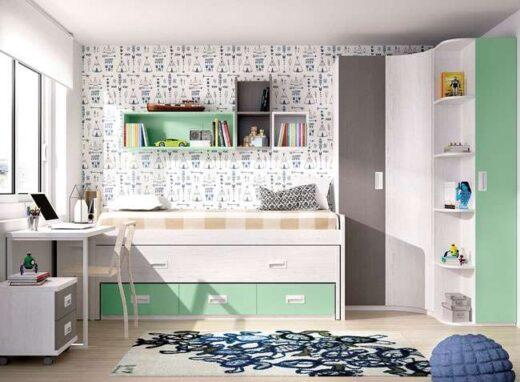 Dormitorio juvenil compacto moderno
