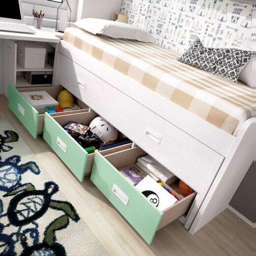 Habitacion juvenil completa con cama nido