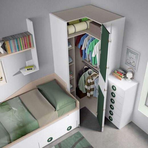 armario dormitorio juvenil moderno 015SP0083