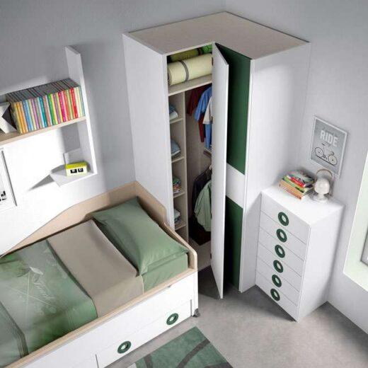 armario habitacion juvenil moderna blanca 015SP0084