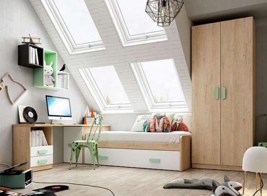 cama nido juvenil blanca escritorio 076LI0141