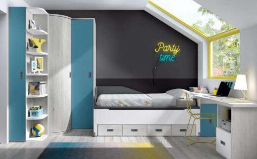 dormitorio juvenil completo cama compacta 015SP0211