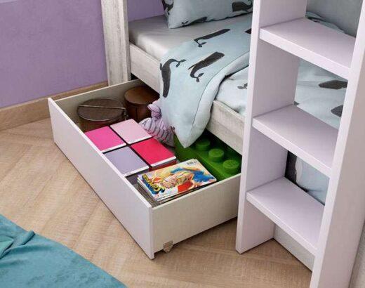 dormitorio juvenil literas madera 076LI0312