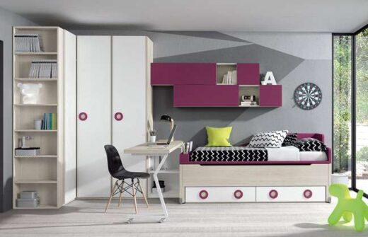 habitacion cama compacta cajones original 015SP0111
