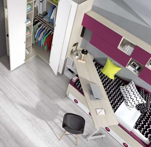 habitacion juvenil original compacta armario rincon 015SP0112
