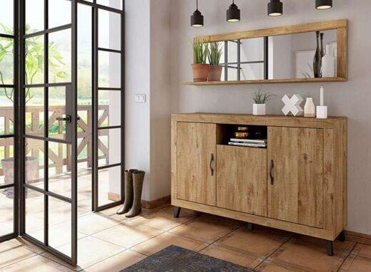 aparador 150cm madera patas 076AP0141