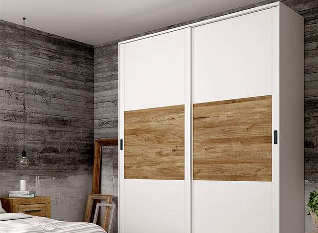 armario 2 puertas correderas 180 cm largo color blanco y On puerta corredera armario ancho 160 cm