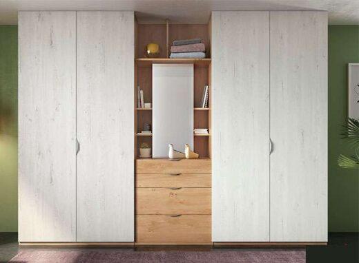 armario 4 puertas abatibles con cajones estanteria central 089AR0111