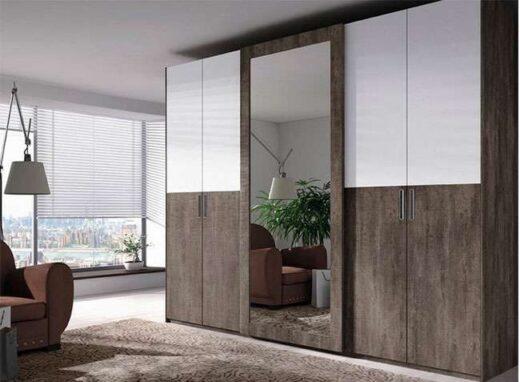 armario con espejo cuerpo entero puerta corredera y 4 puertas batientes 089AR0011