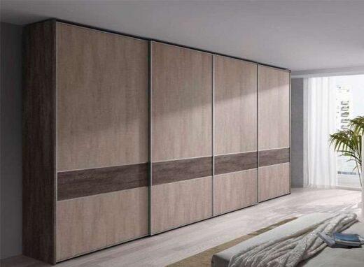 armario madera dormitorio matrimonio 4 puertas correderas 089AR0071