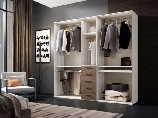 dormitorio armario organizador 5 puertas abatibles cajones 040AR0022