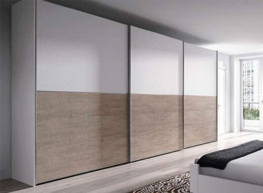 armario moderno gran capacidad 3 puertas correderas 089AR0081