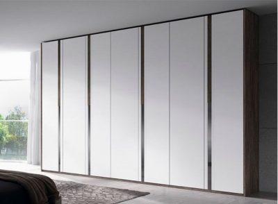 Armario grande 7 puertas abatibles irregulares blanco