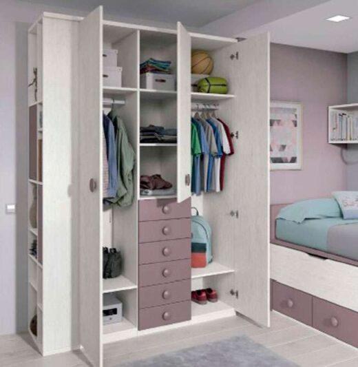 armario 3 puertas habitacion doble compacto 259FO0042