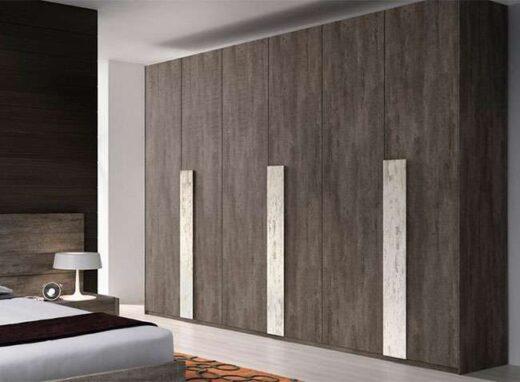 armario moderno wengue 6 puertas abatibles tiradores grandes 089AR0021