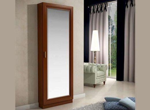zapatero armario con espejo madera 067ZA0011