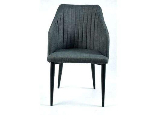 butaca salon comedor tela y patas metal gris oscuro 612SI0792