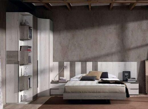 cabecero lamas verticales 2 mesitas base cama matrimonio 015OR0141