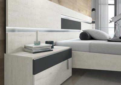 Dormitorio matrimonio moderno con cabecero y 2 mesitas de noche (bancada cama aparte)