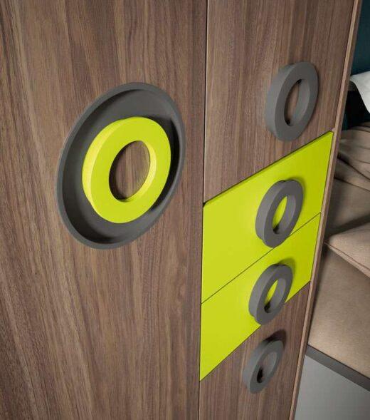 cama 90x190 con cajones baja con arcon y escritorio 024UP2033