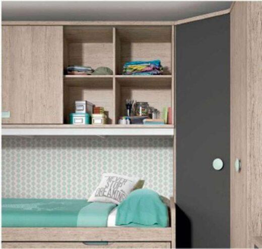cama juvenil compacta puente 259FO0102