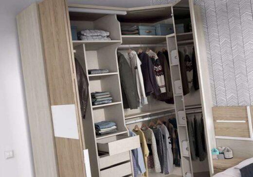 cama matrimonio volada cabecero y mesitas color madera 015OR01A2