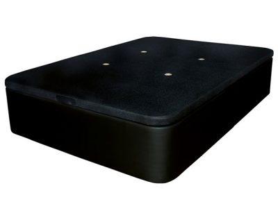 Canapé abatible polipiel negro