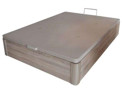 canape esquinas redondas madera cama matrimonio 250DE002