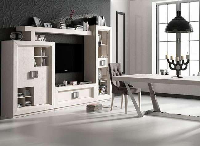 Composición muebles salón comedor modernos alta calidad blanco