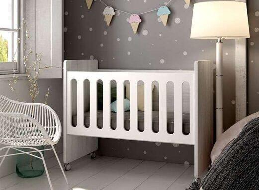 cuna moderna con ruedas habitacion infantil 076LI0341