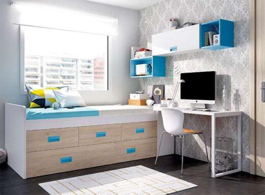 dormitorio juvenil compacto contenedores arcon con escritorio 006ON0041
