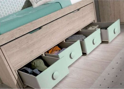 dormitorio puente juvenil cama nido cajones 259FO0103