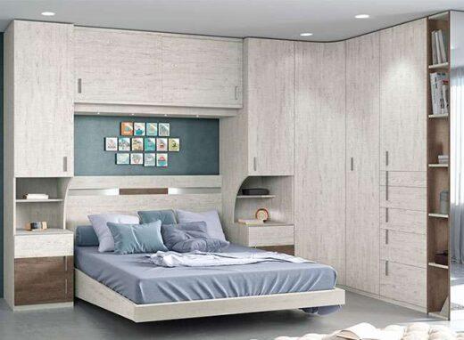 dormitorio matrimonio puente moderno armario rincon 089SM0121
