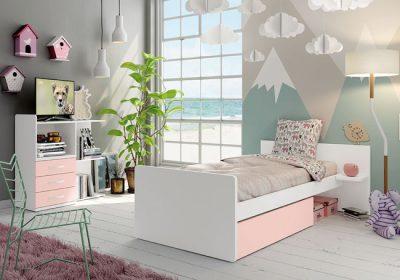 Habitación con cuna convertible en cama y cambiador modular convertible