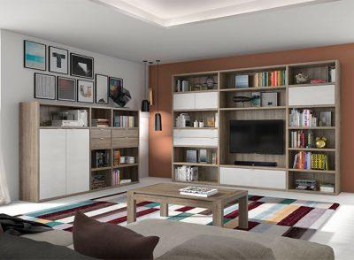 Librería de salón para TV rectangular