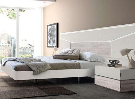 modular base cama matrimonio volada cabezal iluminacion mesitas 259EO1151