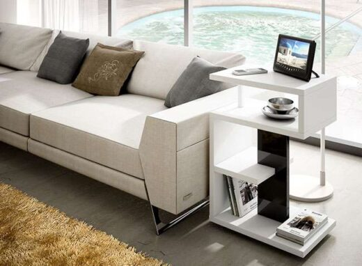 mesa moderna auxiliar original estantes 162HO100282