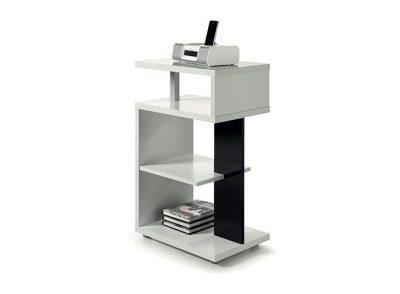 Mesa auxiliar moderna original con estantes