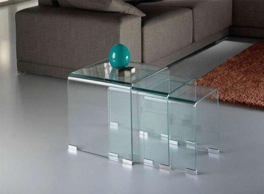 mesa auxiliar cuadrada nido cristal 263552283