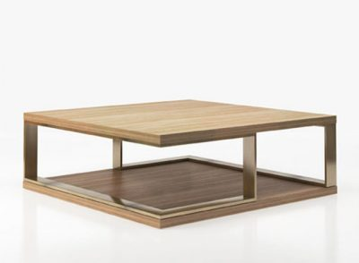 Mesa de centro cuadrada de madera estilo moderno sofisticado (Personalizable)