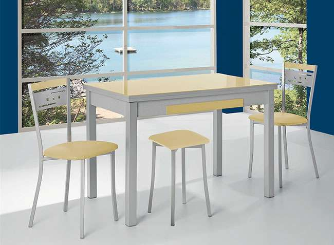 Mesa de cocina de 100x60cm extensible (disponible en más medidas y colores)