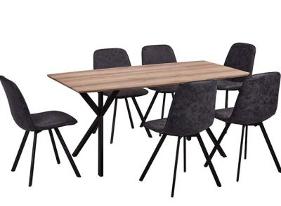 Mesa comedor de 160 x 90 patas doble tripode
