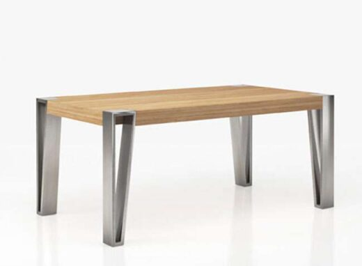 mesa patas comedor horquilla grandes encimera madera 295ME0181