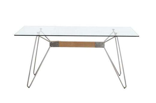mesa cristal rectangular industrial comedor 612ME0031