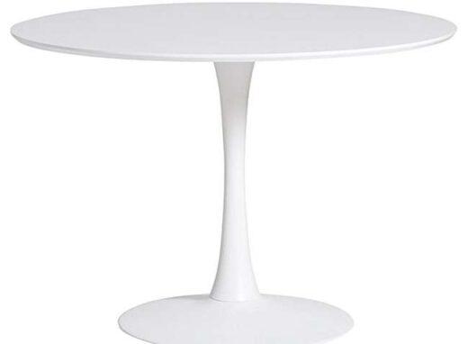 mesa comedor redonda blanca 612ME0021