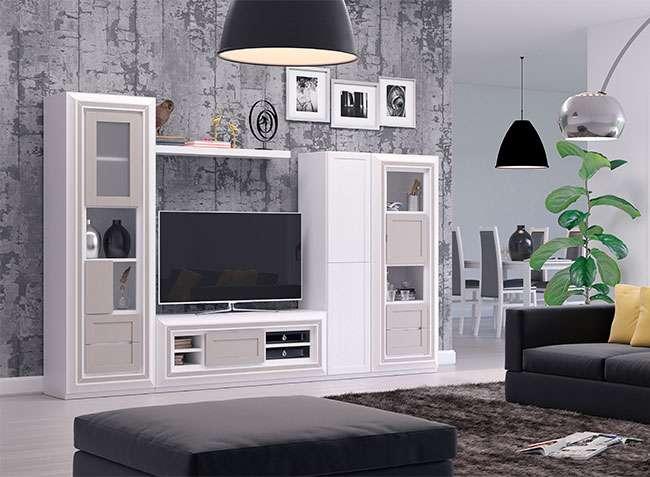 Muebles Lacados Blanco Para Salon.Muebles Neoclasicos Salon Lacado Blanco