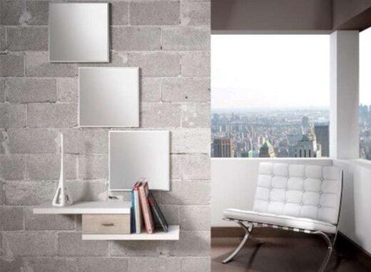 recibidor memphis minimalista escalonado con espejo 162H10011