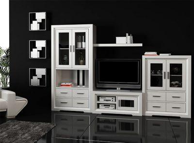 Muebles salón colonial moderno en color blanco