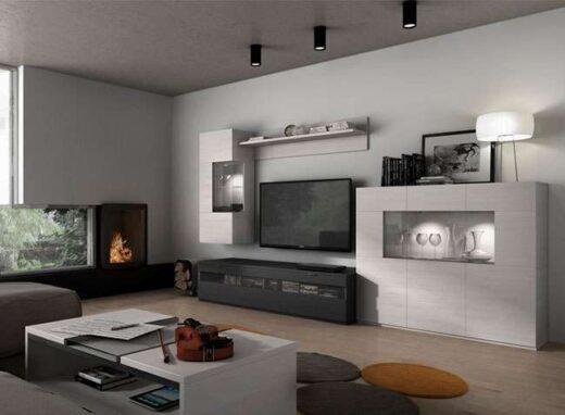 salon modular moderno gran capacidad aparador expositor 244SA0201