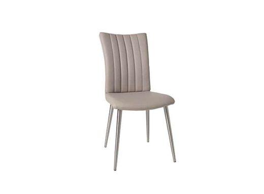 silla capuchino 4 patas acero inoxidable acolchada lineas verticales salon 612SI0622